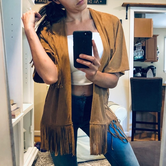 Hollister Sweaters - 🔥TODAY ONLY🔥 Fringe kimono faux suede